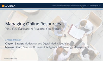 Managing Online Resources—Yes, You Can (and 9 Reasons You Should)- August 2017