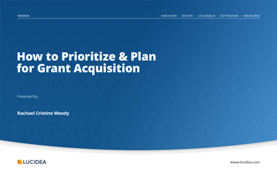 Prioritize and Plan for Museum Grant Acquisition